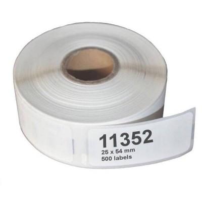 Confezione da 500 Etichette Compatibili DYMO 11352, S0722520 54mm x 25mm