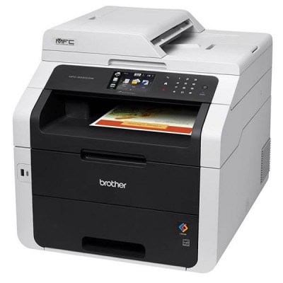 Stampante Multifunzione Laser Colore Brother A4 MFC-9330CDW 4 in 1 Stampa Copia Scansione Fax Wifi e Lan Frote Retro Automatico