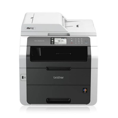 Stampante Multifunzione Laser Colore Brother A4 MFC-9340CDW 4 in 1 Stampa Copia Scansione Fax Wifi e Lan Frote Retro Automatico