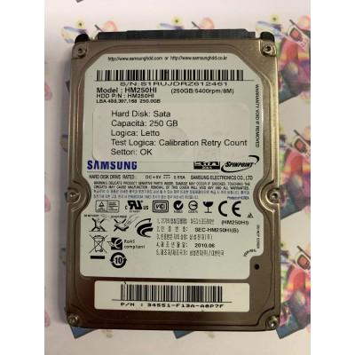 """Hard Disk Usato Semifunzionante Sata 2,5"""" 250Gb SAMSUNG HM250HI"""