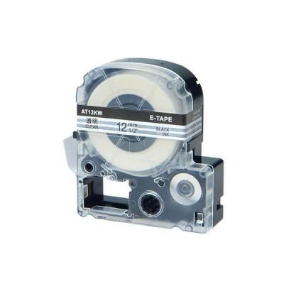 Nastro per Etichettatrice Epson LK4TBW 12mm x 8m Nero su Trasparente No Oem