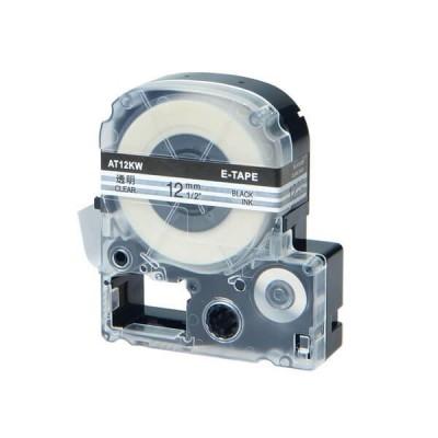 Nastro per Etichettatrice Epson LK5TBW 18mm x 8m Nero su Trasparente No Oem