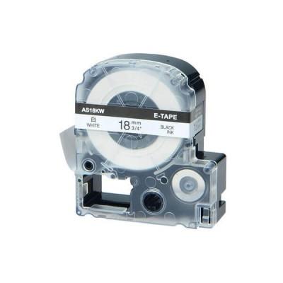 Nastro per Etichettatrice Epson LK5WBN 18mm x 8m Nero su Bianco No Oem