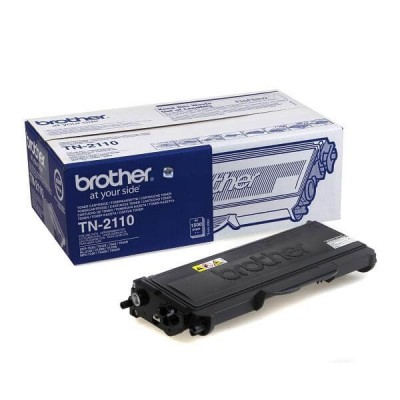 Toner Originale Brother TN-2110 Bk Nero 1500 Pagine