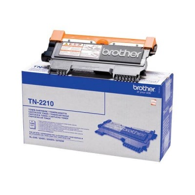 Toner Originale Brother TN-2210 Bk Nero 1200 Pagine