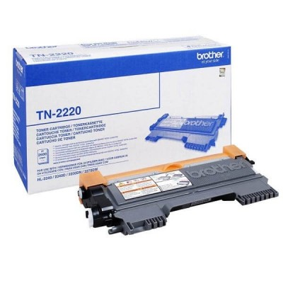 Toner Originale Brother TN-2220 Bk Nero 2600 Pagine