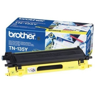 Toner Originale Brother TN-135Y Y Yellow 4000 Pagine