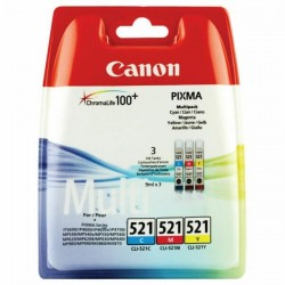 Cartuccia Originale Canon 2934B010 CLI521  9ml 446 Pagine C M Y Ciano Magenta Yellow