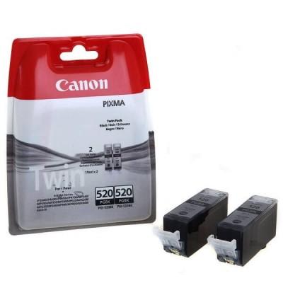 Confezione 2 Cartucce Originali Canon 2932B012 PGI520PGBK 19ml 324 Pagine Bk Nero