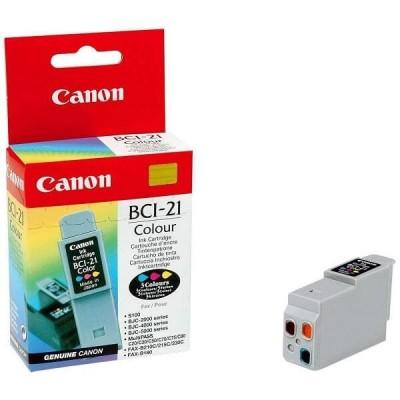 Cartuccia Originale Canon 0955A002 BCI21C 15ml 100 Pagine Colore