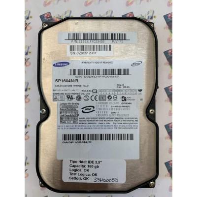 """Hard Disk Usato Funzionante 100% Ok  Ide 3,5"""" 160gb Samsung SP1604N/R 1191J1FYC23493 FS 2005.12"""