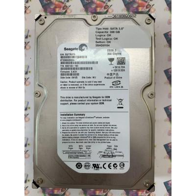 "Hard Disk Usato Funzionante 100% Ok  SATA 3,5"" 300Gb SEAGATE ST3300820SCE 9BK133-193 3.ACH 09125 WU"