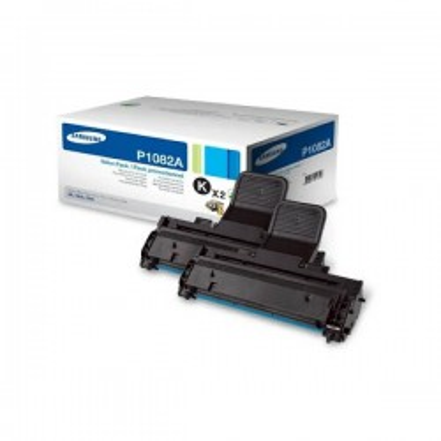 Confezione 2 Toner Originali Samsung HP MLTP1082AELS SU391A P1082A BK Nero 1500 Pagine x2