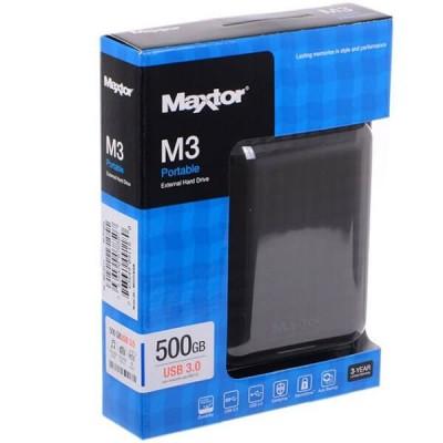 "Hard Disk Esterno Samsung Maxtor 2,5"" 500 Gb Usb 3.0 HX-M500TCB Nero Blister"