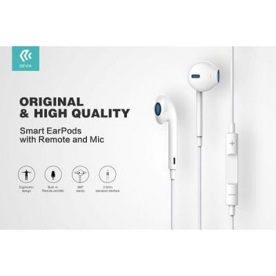Auricolari con Microfono Devia DESMEP077W e controllo EarPods 1.2 mt Bianco