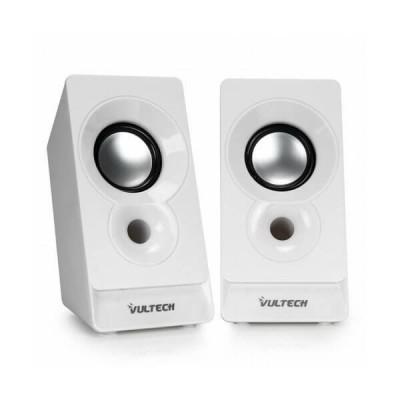 Casse acustiche 2.0 autoalimentate USB 2.0 Vultech SP-320B Bianche