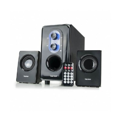Casse acustiche 2.1 25W RMS USB SD FM Remote Control Subwoofer in legno Vultech SP-2008FULL