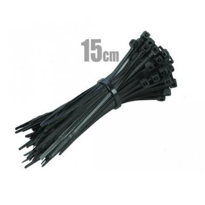 100 Fascette in plastica ideali per cablaggi 15cm x 0,25 cm Vultech SN21502