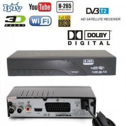 Decoder Digitale Terrestre HD DVB-T2 H.265
