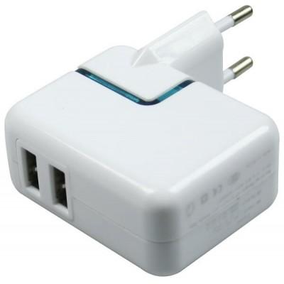 Alimentatore Casa con 2 prese USB 2.0 Mediacom M-ZUSBCH