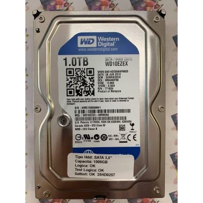 "Hard Disk Usato Funzionante 100% Ok SATA 3,5"" 1000gb WESTERN DIGITAL WD10EZEX WD10EZEX-00RKKA0 EHNNNV2CH 5R04K0FK9 771824 26 JU"