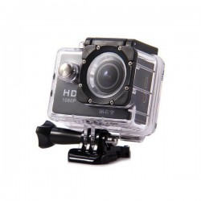 Telecamera sportiva HD 1080P NERA Full HD Telecamera sportiva Wifi water resistant 30m