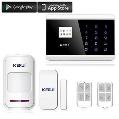 Kit Allarme Interno GSM Centralina 8218G 1 Sensore di Movimento 1 Sensore Porte/Finestre 2 telecomandi