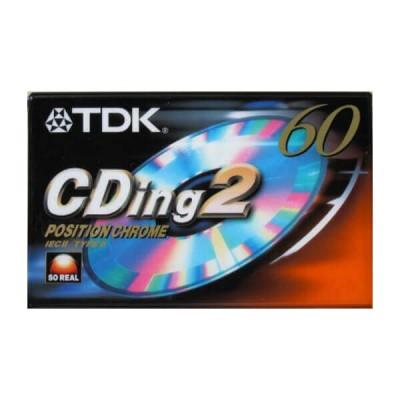 Audio Cassetta TDK 60min Position Chrome CDING2-60EC