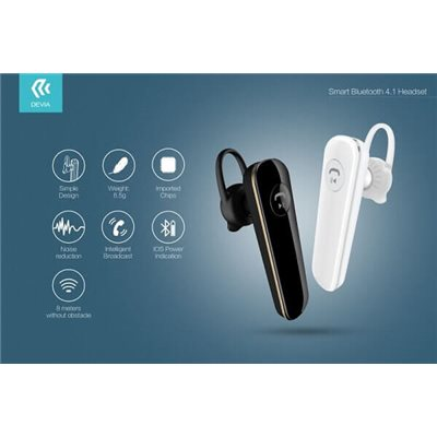 Auricolari Bluetooth Smart Devia DEBTL076W V4.1 White