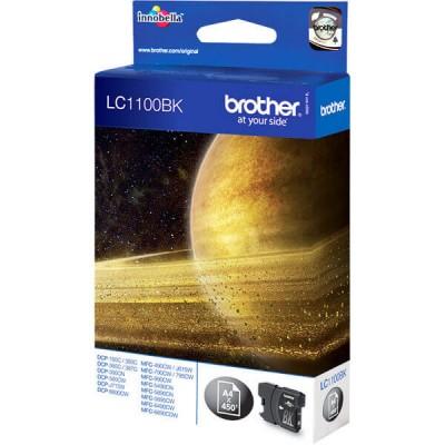 Cartuccia Originale Brother LC1100BK LC-1100BK Bk Nero 450 Pagine
