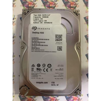 """Hard Disk Usato Funzionante 100% Ok SATA 3,5"""" 1000gb SEAGATE ST1000DM003 1SB102-300 CC43 TK"""