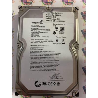 """Hard Disk Usato Funzionante 100% Ok SATA 3,5"""" 1000gb SEAGATE ST31000528AS 9SL154-302 CC38 10444 TK"""