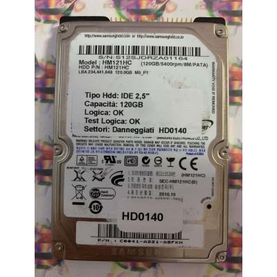 """Hard Disk Usato Semifunzionante IDE 2,5"""" 120GB SAMSUNG HM121HC C0041-A221-A8FKH  2010.01"""