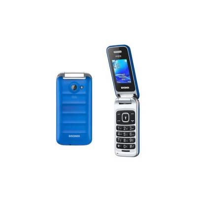 "BRONDI CELLULARE FOX BLU Display 1.77"" GSM Flip Attivo Dual SIM 1.3 MpX Radio FM"