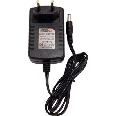 Alimentatore AC DC Input 100-240V AC 50-60Hz 0.5A Output 12VDC 2A 5,5mm x 2,5 mm Trustech