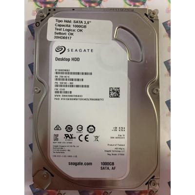 """Hard Disk Usato Funzionante 100% OK SATA 3,5"""" 1000GB SEAGATE ST1000DM003 1SB10C-300 CC43 TK"""