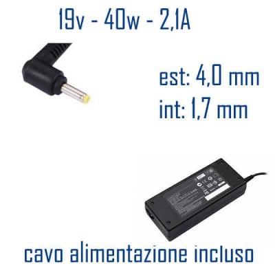 Alimentatore Compatibile 40W 19V 2,1A 4,0 x 1,7mm Cavo Alimentazione Incluso