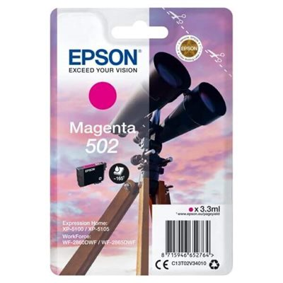 Cartuccia Originale Epson C13T02V34010 502 M Magenta 3,3ml 160 Pagine