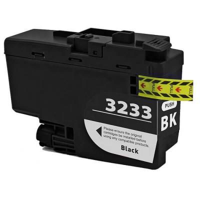Cartuccia Compatibile Brother LC3233 BK Nero Non Originale 65ML Con Chip 3000 Pagine