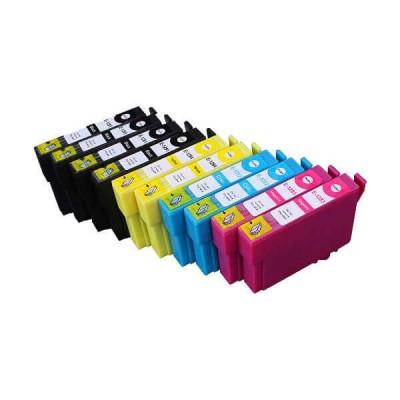 Kit 10 Cartucce Compatibili Epson T1281 T1282 T1283 T1284 - 4 Bk - 2 C - 2 M - 2 Y