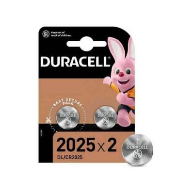 Batterie Bottone Duracell 2025 CR2025 DL2025 3V Litio Conf 2 Pezzi