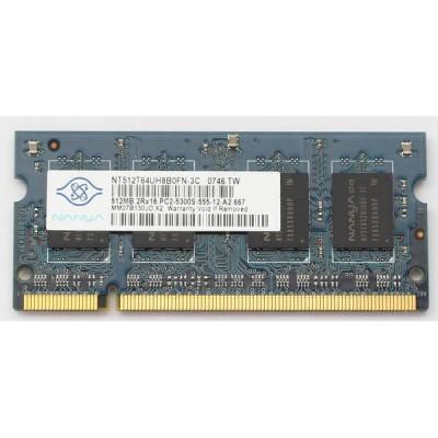 Memoria Sodimm Nanya 512mb 667mhz PC2-5300S-555-12-A2 Usata Funzionante