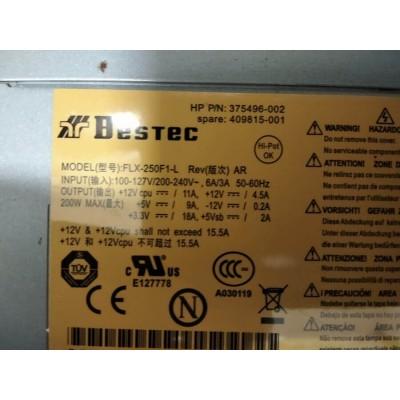Alimentatore Hp FLX-250F1-L 375496-002 409815-001 Usato Funzionante Max 200W