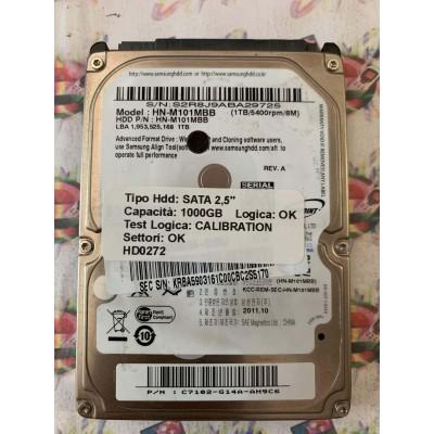 """Hard Disk Usato Semifunzionante SATA 2,5"""" 1000GB SAMSUNG HN-M101MBB C7102-G14A-AH9C6 A 2011.10"""