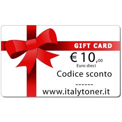 Gift Card Valore 10 euro spendibile sul sito italytoner.it