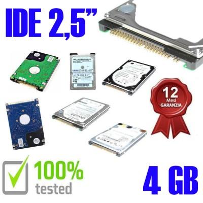 """Hard Disk Usato Ide  2,5"""" 4GB Testato 100% OK Funzionante 1 Anno Garanzia Varie Marche Vari Modelli"""