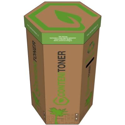 Ecobox 30x30x70 Contenitor Pro 1S15 Contratto Smaltimento Toner e Cartucce Circa 15 Toner