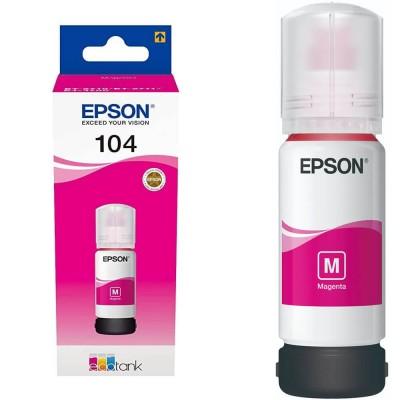 Flacone Inchiostro Originale Epson 104 T00P340 C13T00P340  M Magenta da 65ml