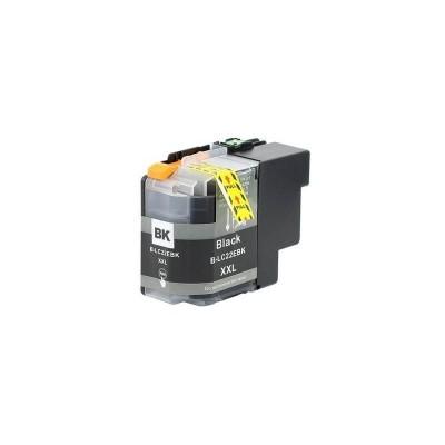 CARTUCCIA COMPATIBILE BROTHER LC22E BK Nero No Oem Con CHIP 2400 Pagine