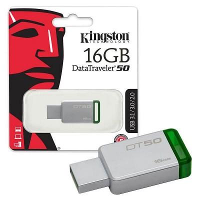 Pendrive Kingston 16Gb Usb 2.0 3.0 3.1 DT50/16GB
